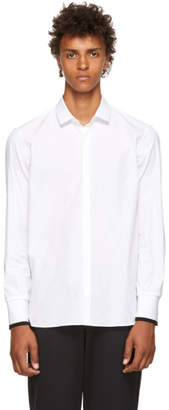 Neil Barrett White Poplin Rib Cuffs Shirt