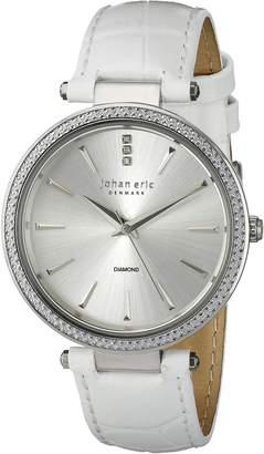 Johan Eric Women's JE-F1000-04-001 Fredericia Analog Display Quartz White Watch
