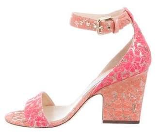 Jimmy Choo Woven Metallic Sandals