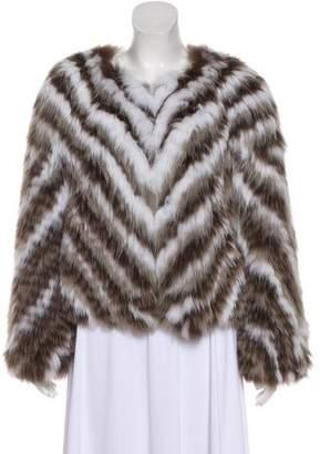 J. Mendel Chevron Fur Jacket