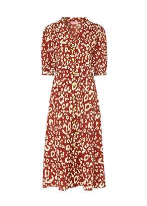 Kitri Siena Animal Print Tea Dress