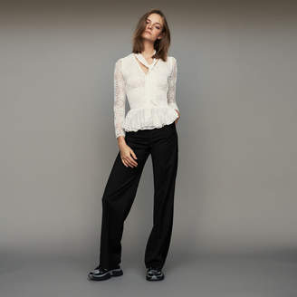 Maje Wide pleated pants