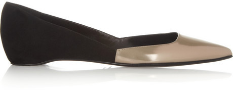 Pierre Hardy Patent-leather and suede flats