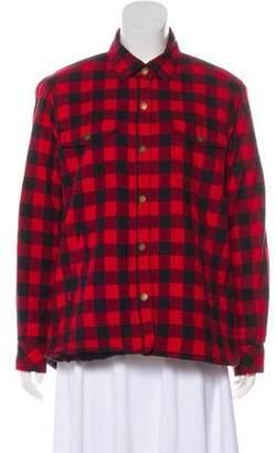 Current/Elliott Shearling Button-Up Jacket