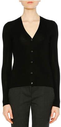 Prada V-Neck Cashmere-Silk Cardigan