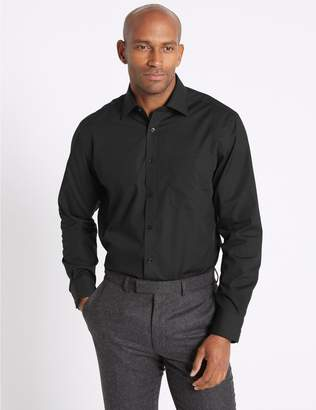 Marks and Spencer 2in Longer Cotton Rich Regular Fit Shirt