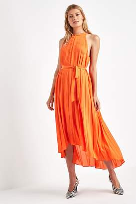 F&F Womens Orange Pleated Maxi Dress - Orange