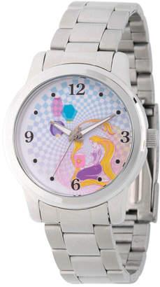 DISNEY PRINCESS Disney Princess Belle Beauty and the Beast Womens Silver Tone Bracelet Watch-Wds000242
