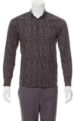 The Kooples Floral Print Fitted Shirt