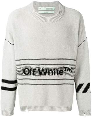 Off-White logo intarsia jumper