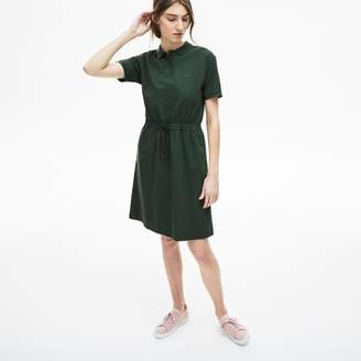 d00f3b1edd Lacoste Women s Flowing Gabardine Polo Dress