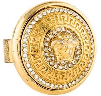 Versace Crystal Medusa Disc Ring