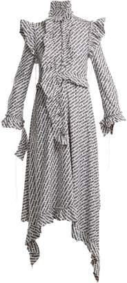 Vetements Logo-print ruffle-trimmed dress