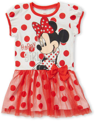 Minnie Mouse (Toddler Girls) Long Sleeve Happy Girl Dress