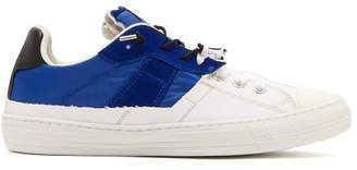Maison Margiela Suede And Canvas Low Top Trainers - Mens - White Navy