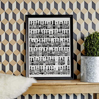 Run For The Hills '99 Bottles Of Beer On The Wall' Art Print