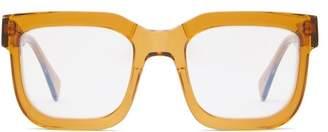 Kuboraum - Square Acetate Glasses - Mens - Yellow