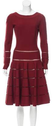 Alaia Virgin Wool Fit & Flare Dress