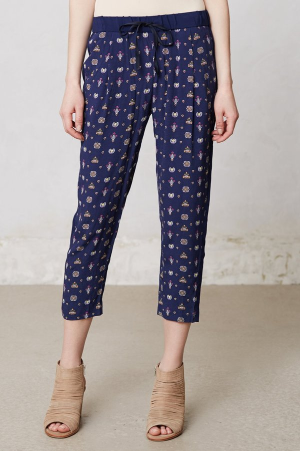 Anthropologie Paisley Method Trousers