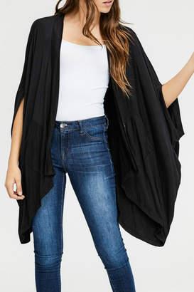 Cherish Black Pocketed Cardigan
