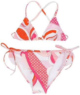 Emilio Pucci Junior patterned bikini