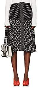 Proenza Schouler Women's Floral Cady Flared Midi-Skirt-Black, White