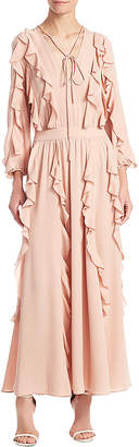 Valentino Trimmed Maxi Dress