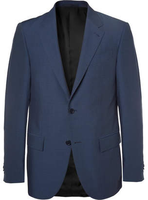 Ermenegildo Zegna Navy Milano Slim-Fit Wool and Silk-Blend Suit - Men - Navy