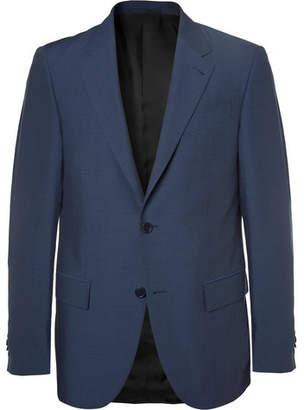 Ermenegildo Zegna Navy Milano Slim-Fit Wool And Silk-Blend Suit