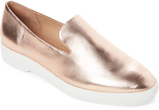 Donna Karan Dusty Rose Pia Metallic Loafers