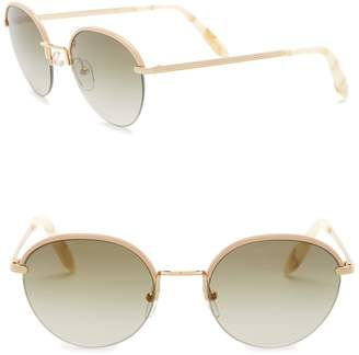 Victoria Beckham Women's 52mm Metal Round Sunglasses