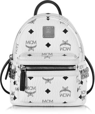 MCM Stark Bebe Boo White Backpack