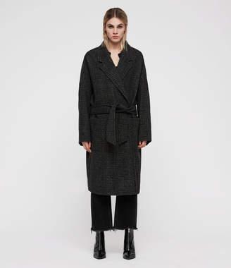 AllSaints Lara Check Ilia Coat