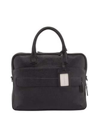 Giorgio Armani Caviar Leather Briefcase, Black