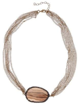 Melrose and Market Agate Pave Short Necklace