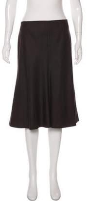 Akris Tonal Knee-Length Skirt Brown Tonal Knee-Length Skirt