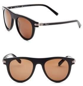 Salvatore Ferragamo 51MM Round Sunglasses