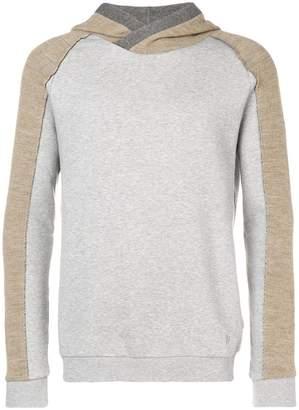 Dondup contrast sleeve hoodie
