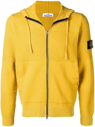 Stone Island zipped hooded sweater