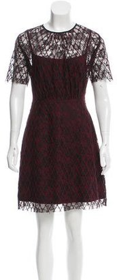 Sandro Short Sleeve Lace-Embroidered Dress $95 thestylecure.com