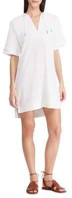 Polo Ralph Lauren Hooded Cotton Blend Terry Tunic