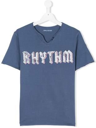 Zadig & Voltaire Kids TEEN rythm print T-shirt