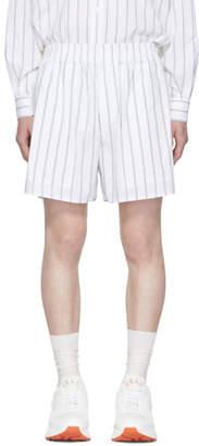 Stella McCartney White and Blue Striped Shorts