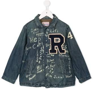 Denim Dungaree patch jacket