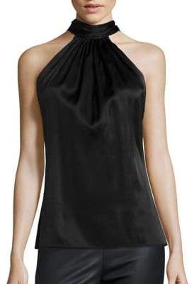 Ramy Brook Paige Tie-Neck Sleeveless Blouse