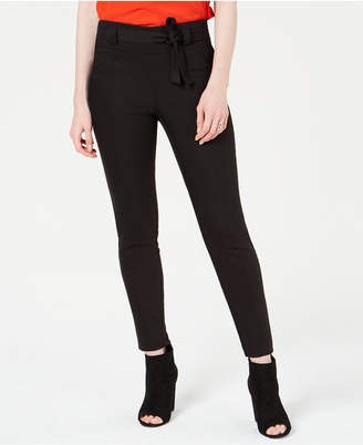 Bar III Tie-Front Skinny Pants