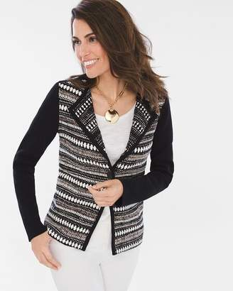Chico's Chicos Textured Striped Cardigan