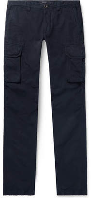 Incotex Slim-Fit Slub Cotton And Linen-Blend Cargo Trousers