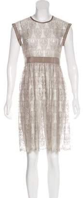 Thomas Wylde Skull Lace Mini Dress