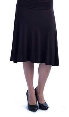 24/7 Comfort Apparel Women's Foldover Skirt